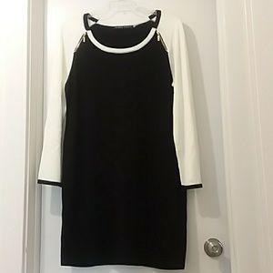 IVANKA TRUMP dress black/white 2 zippers up top